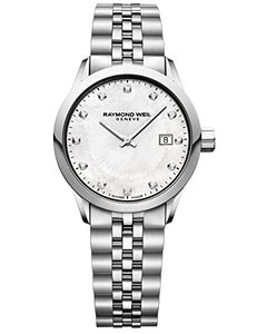 Raymond Weil 'Freelancer Ladies' Quartz Stainless Steel Casual Watch, Color:Silver-Toned (Model: 5629-ST-97081)
