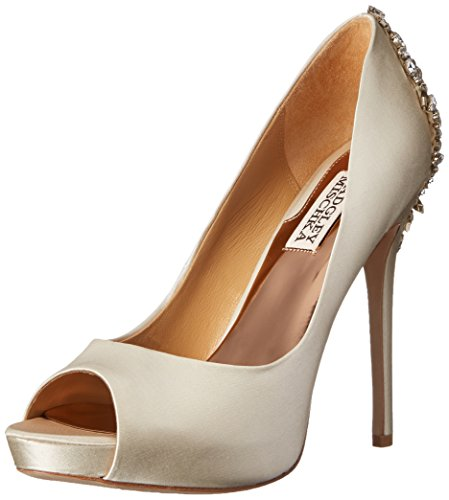 Badgley Mischka Women's Kiara dress Pump, Ivory, 8 M US
