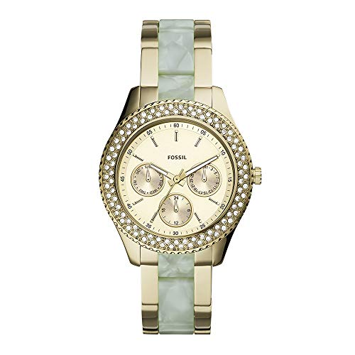Fossil ES4757 Stella Multifunction Two-Tone Stainless Steel and Acetate Watch