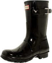 Hunter Women's Original Short Gloss Rain Boots, Black, 7 B(M) US