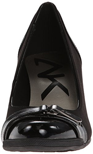 ac281ce6a2 Anne Klein Sport Women's Tamarow Fabric Wedge Pump, Black, 9.5 M US ...