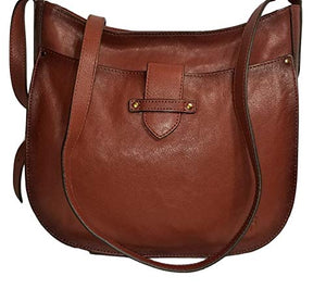 Frye Olivia Large Leather Crossbody Bag - Cognac