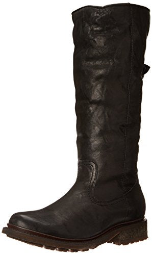 FRYE Women's Valerie Sherling Pull-On Riding Boot, Black, 6 M US