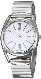 Gucci Horsebit Quartz Movement White Dial Ladies Watch YA140405