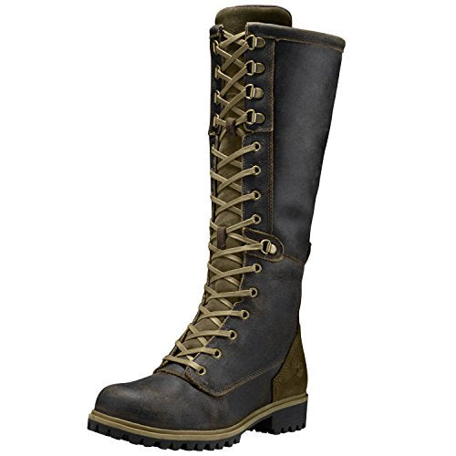 Timberland Women's Wheelwright Tall Lace Waterproof Boot 7 US M Dark Brown Suede