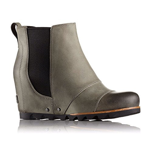 SOREL Lea Wedge Booties - Dark Grey/Black - Womens - 8.5