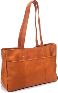 Le Donne Leather Adult's Traveler Tote, Tan