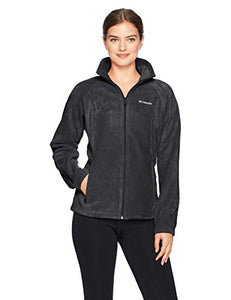 Columbia Women's Tested Tough in Pink Benton Springs Full Zip Jacket, Black, S