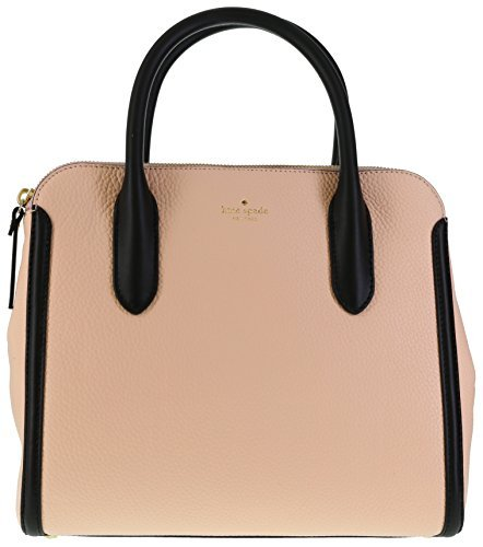 Kate Spade New York Caroline Lane Duncan Dual Handled Satchel (Soft Rose/Black)