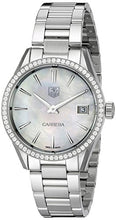 TAG Heuer Women's WAR1315.BA0778 Carrera Analog Display Swiss Quartz Silver Watch