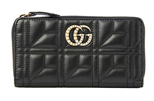 Gucci Black Shanghai Leather Wallet Guccissima style Box New Italy