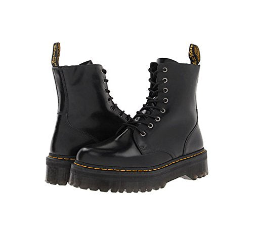 Dr. Martens Men's Jadon Combat Boot, black, 11 UK/12 M US