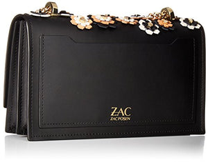 ZAC Zac Posen Earthette Accordion Chain Shoulder, Black