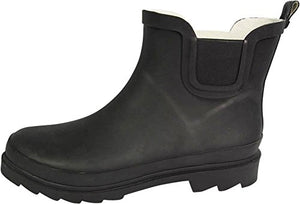 Norty - Womens Ankle High Rain Boot, Matte Black 39971-7B(M)US
