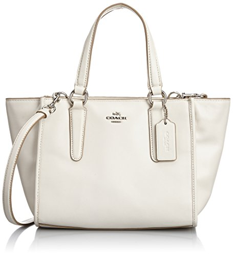 Coach Crosby Leather Satchel 33537 Sv/chalk