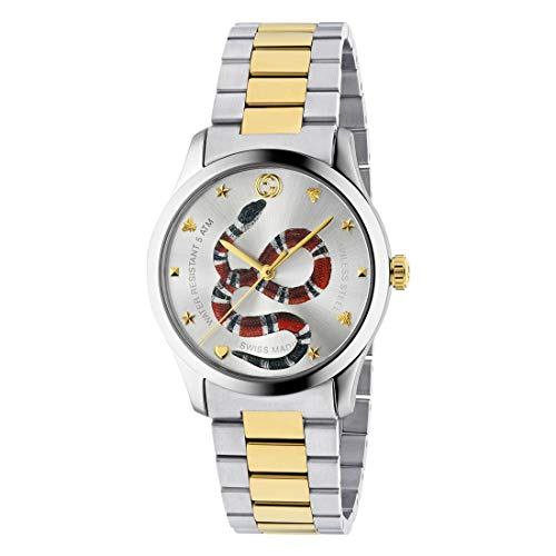 Gucci Unisex G-Timeless - YA1264075 Silver/Two-Tone Yellow Gold One Size