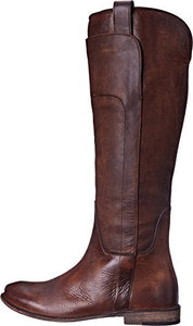 FRYE Women's Paige Tall-Apu Riding Boot, Dark Brown, 7 M US