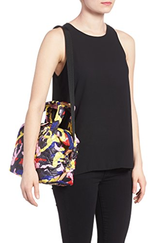 MZ Wallace Small Sutton Quilted Oxford Nylon Crossbody Bag Floral Graphic Bag New