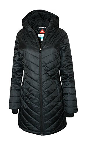 Columbia Women's Morning Light II Omni Heat Long Jacket Coat Puffer, BLACK (M)