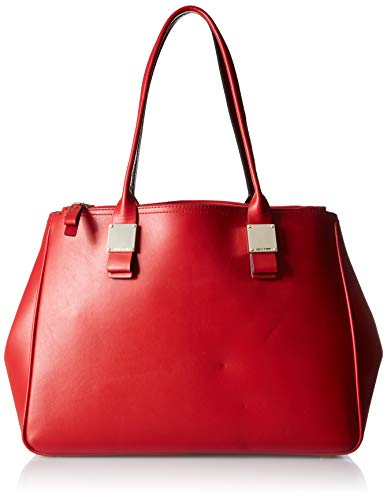 Cole Haan Tali Double Zip Leather Tote barbados cherry