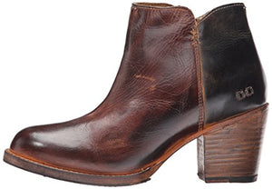 bed stu Women's Yell Boot, Teak/Black Rustic Rust, 8 M US