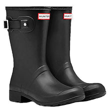 Hunter Boot USA New Original Tour Short Matte Black 8 Womens Boots