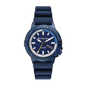 Columbia Peak Patrol Stainless Steel Quartz Sport Watch with Silicone Strap, Navy, 13 (Model: CSC03-002)