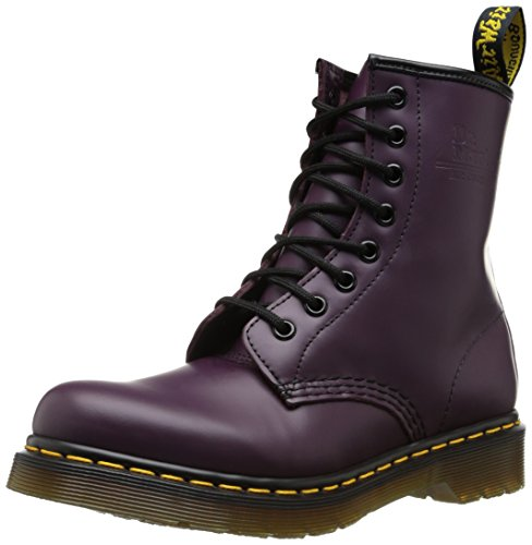 Dr. Martens 1460 Re-Invented 8 Eye Lace Up Boot,Purple Smooth Leather,4 UK / 5 US Mens / 6 US Womens