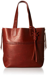 FRYE Carson Whipstitch Leather Tote Bag, Red Clay , One Size