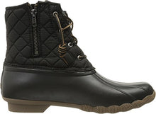 Sperry Top-Sider Women's Salwater Quilted Nylon Blk Rain Boot, Black, 8.5 M US