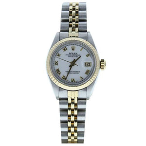 Rolex Model 6917 26mm Datejust Steel & Gold Jubilee Band White Roman Dial (Certified Preowned)