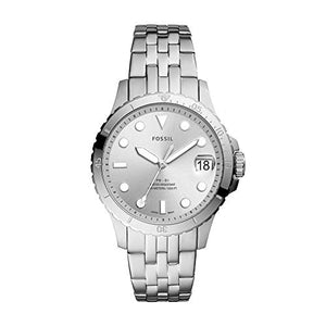 Fossil Women's FB-01 Quartz Watch with Stainless Steel Strap, Silver, 18 (Model: ES4744)