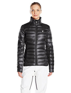 Spyder Women's Prymo Down Jacket, Black/Black, Medium