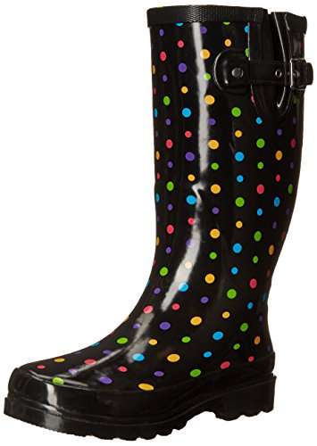 Western Chief Women's Ditsy Dot Rain Boot,Multi,8 M US