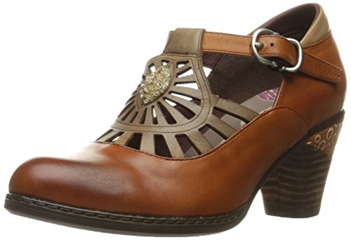 L'Artiste by Spring Step Women's April Dress Pump, Brown/Multi, 39 EU/8.5 M US