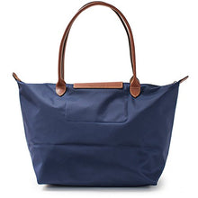 LONGCHAMP Le Pliage France Navy Blue Lucky Large Top Handle Travel Bag Handbag NEW