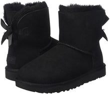 UGG Women's Mini Bailey Bow II Winter Boot, Black, 9 B US