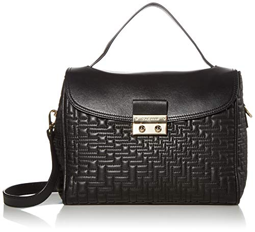 Cole Haan Lock Group Quilt Satchel, Black