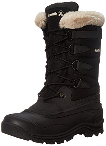Kamik Women's Shellback Insulated Winter Boot, Black, 9 M US