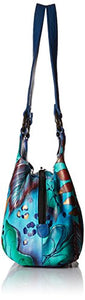 Anuschka Handpainted Leather 469-TRD Triple Compartment Medium Satchel, Tropical Dream, One Size