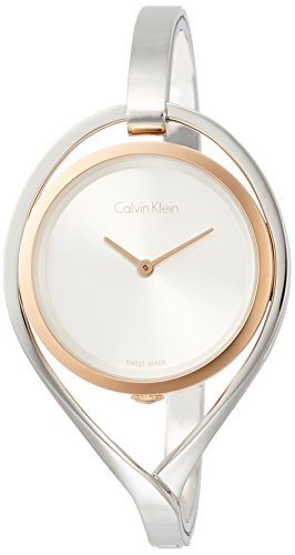Calvin Klein K6L2MB16 Ladies Light Silver Steel Bangle Watch