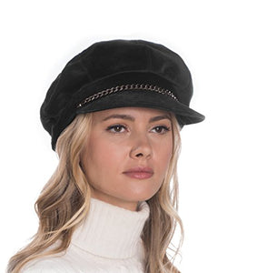 Eric Javits Luxury Fashion Designer Women's Headwear Hat - Thames Cap - Black