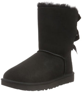UGG Women's Bailey Bow II Winter Boot, Black, 9 B US