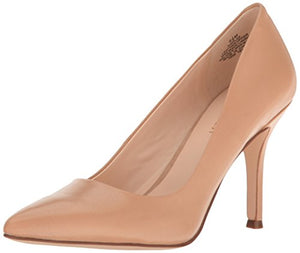 Nine West Women's Flax Leather Dress Pump, Light Natural, 8 M US