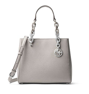 1f73bee2f6cd MICHAEL Michael Kors Cynthia Small Saffiano Leather Satchel in Pearl Grey