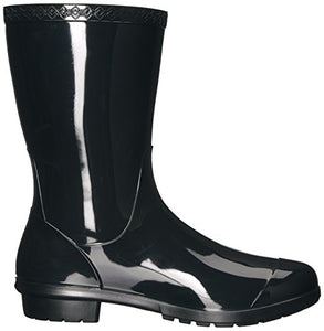 UGG Women's Sienna Rain Boot, Black, 9 B US