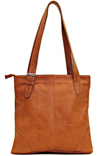 Floto Tavoli Shoulder Bag in Saddle Brown Italian Calfskin Leather