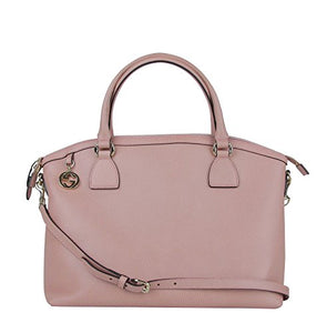 Gucci GG Charm Powder Pink Leather Large Convertible Dome Bag with Strap 449660 5806