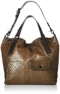 FRYE Samantha Quilted Leather Shoulder Handbag, fatigue