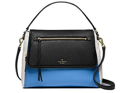 Kate Spade Cobble Hill Toddy Leather Bag , Alice Blue / White /Black